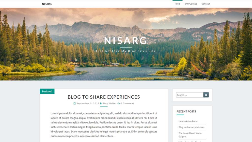 template para blog nisarg