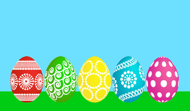5 Easter Eggs Free Stock Photo - Public Domain Pictures