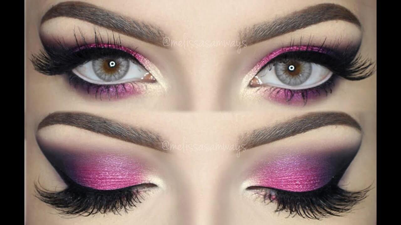 Pink and Black Eyeshadow Smokey Blend