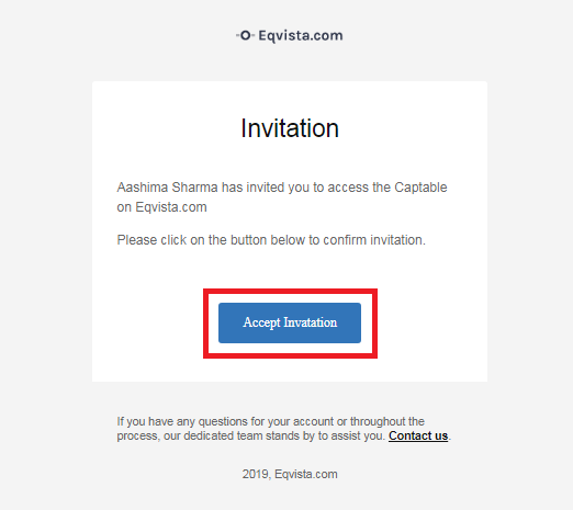 Invitation Email