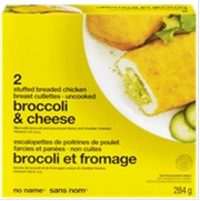 No Name brand Broccoli and Cheese Stuffed Breaded Chicken Breast Cutlettes - Uncooked - 284 grams