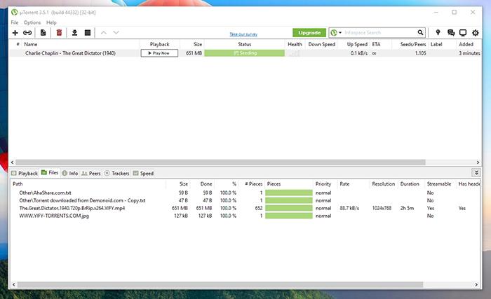 download film using Utorrent