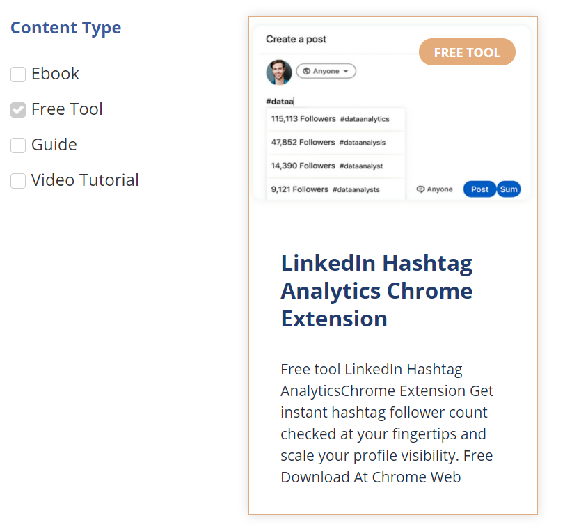 Increase online visibility by giving out free tools