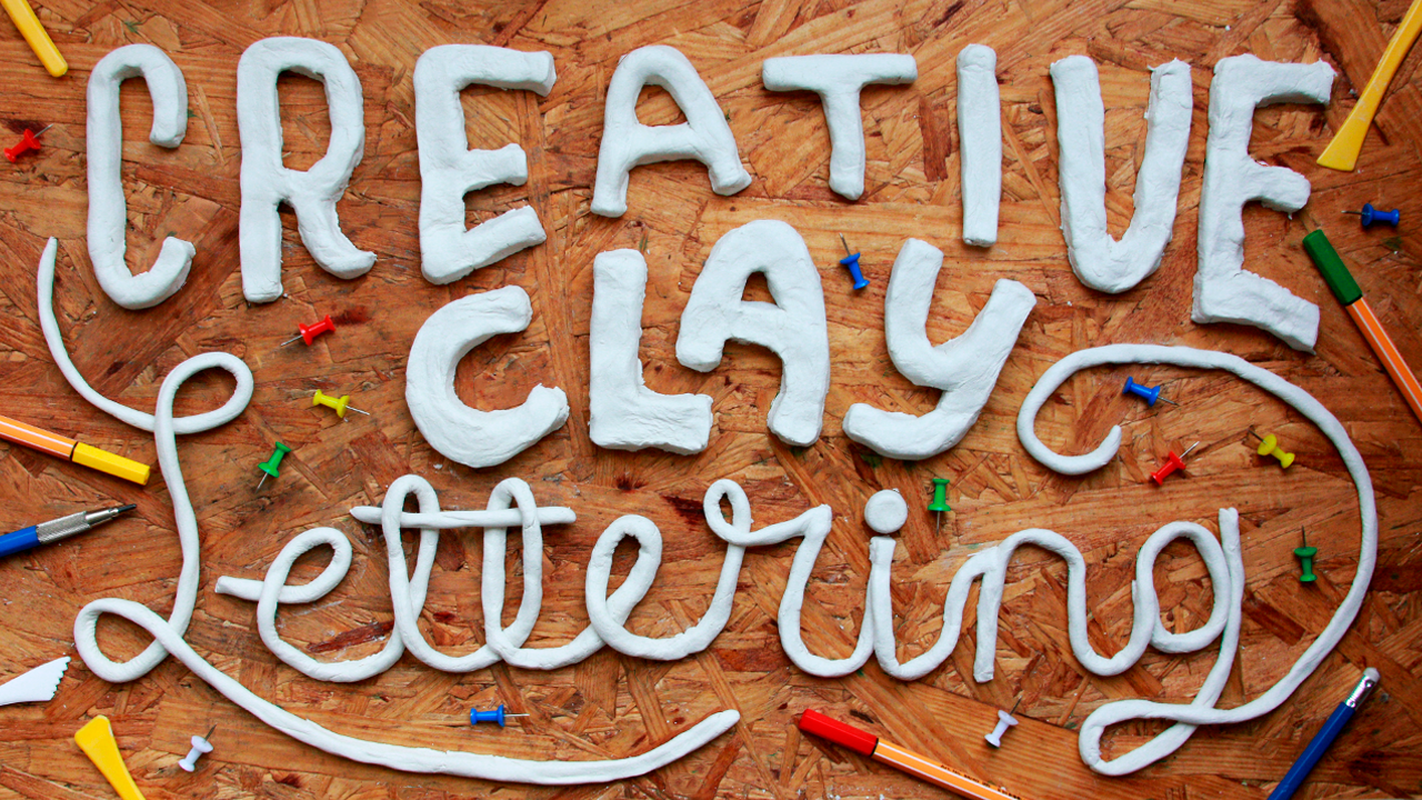 clay lettering
