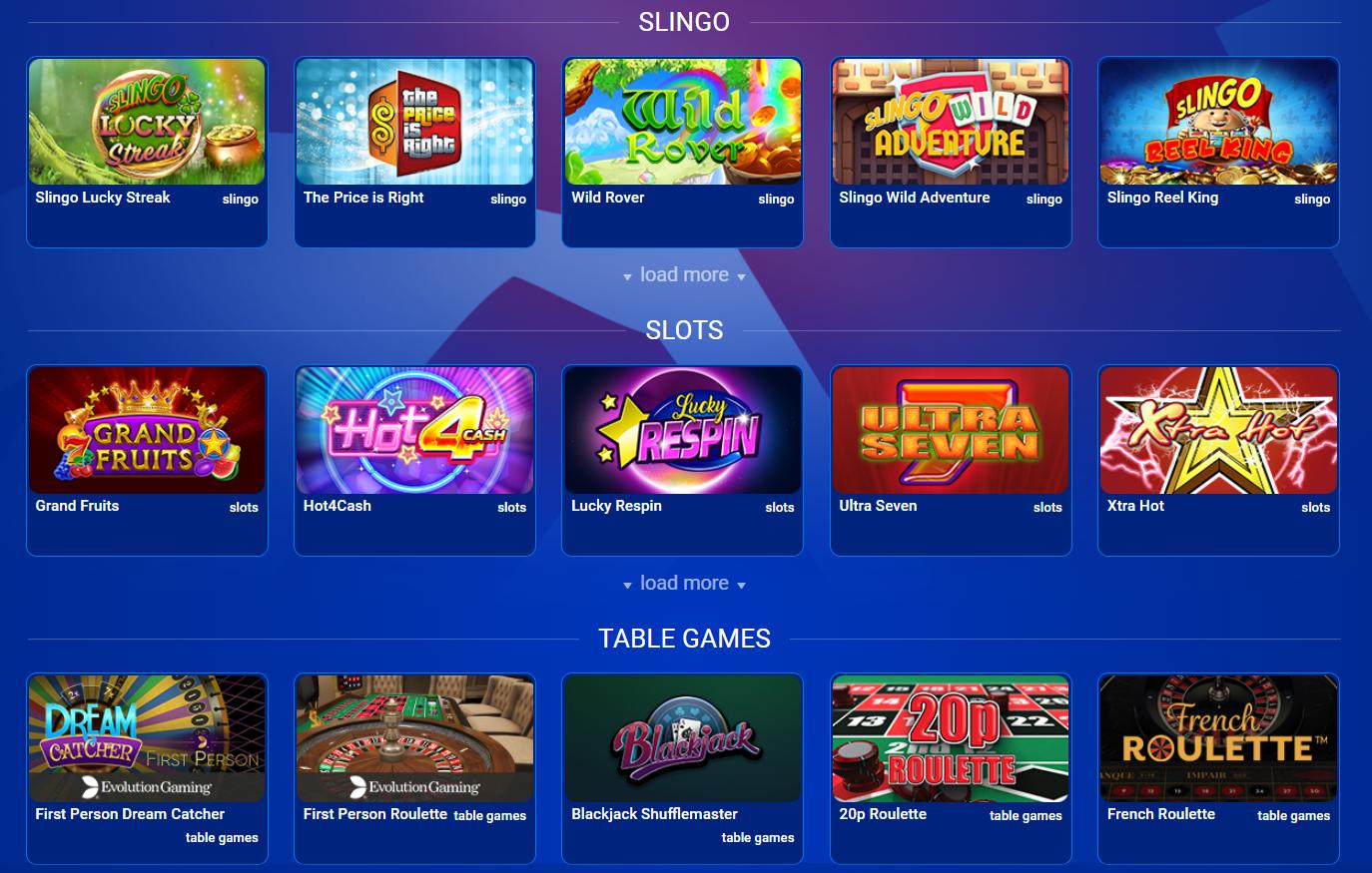 british casino games