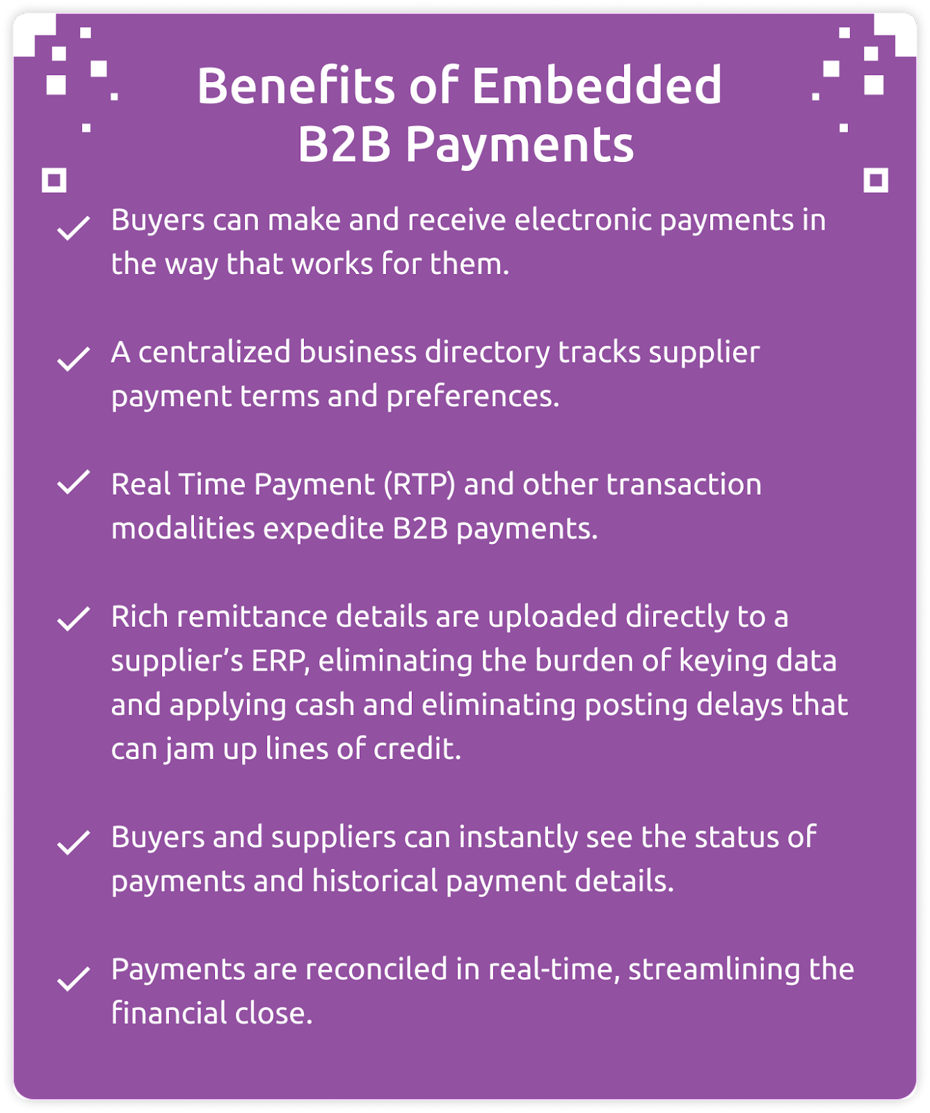 benefits of embedded b2b payments