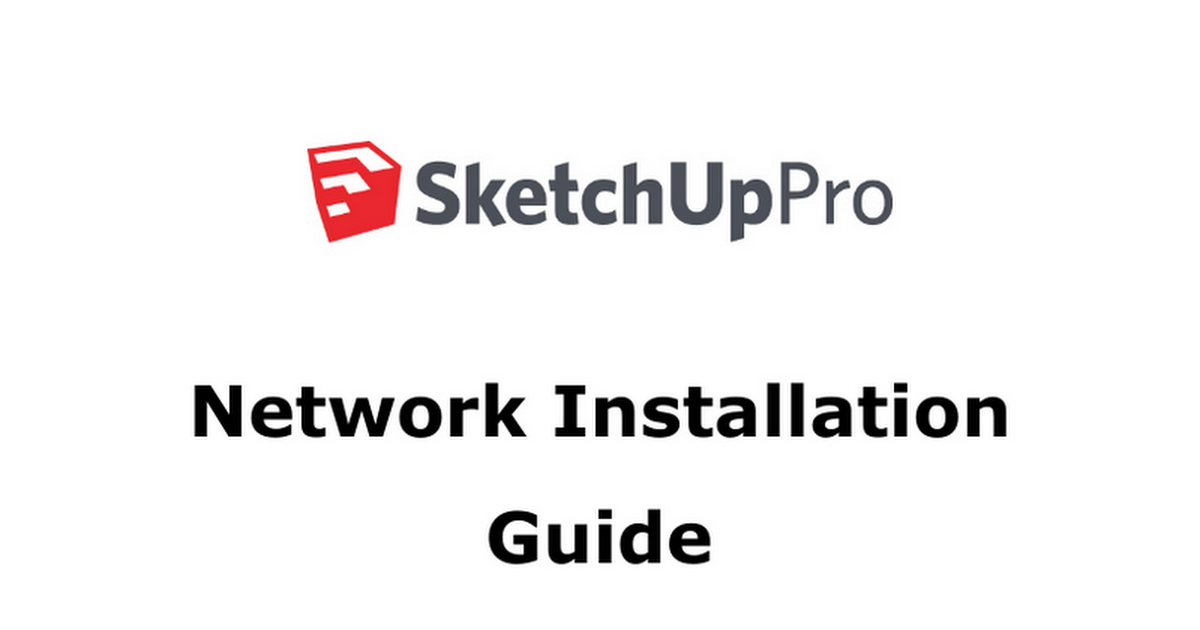 sketchup network installation
