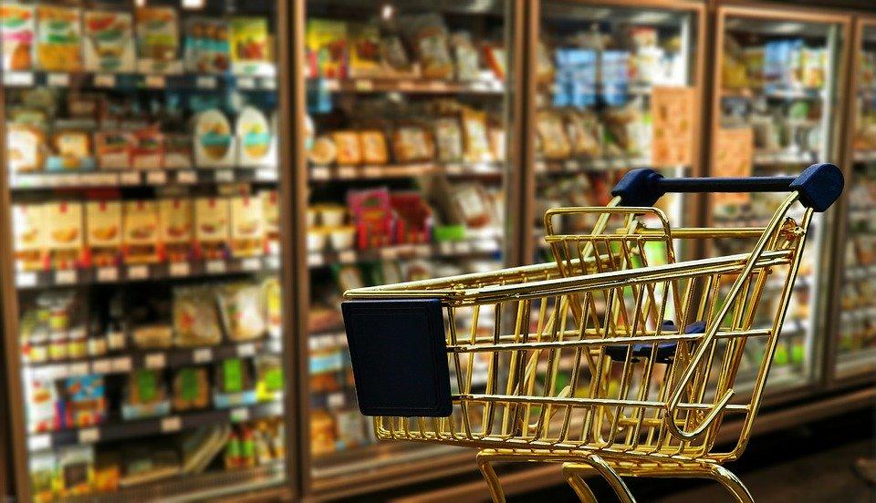 ショッピング, ビジネス, 小売り, ショッピング カート, 交通機関, スーパー マーケット, 食品, 購入