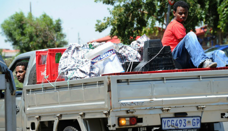 Non-South African business owners leave Soweto, following this month's xenophobia outbreak and looting. Photo: Werner Beukes/South African Press Association