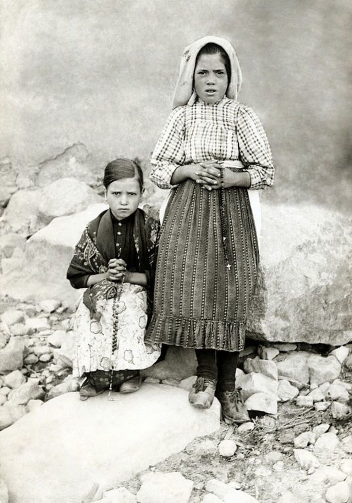 Những bức ảnh hiếm của các thị nhân Fatima, Lucia, Jacinta và Francisco