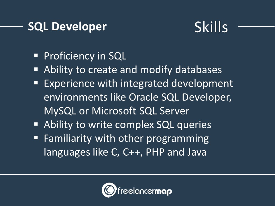 The skills of an SQL developer
