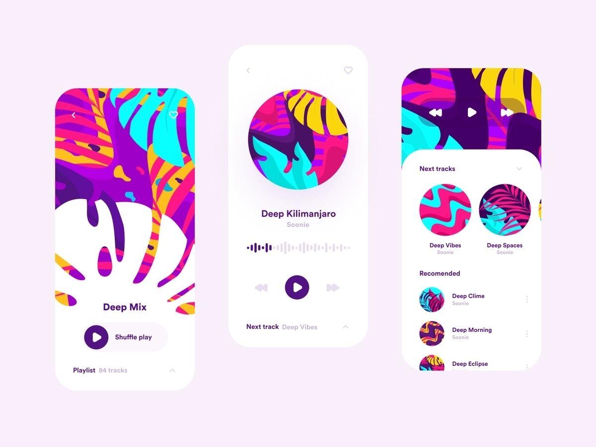 Music app built using react native technology