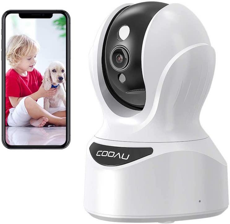 2021最新型400万画素COOAU ネットワークカメラ ベビーモニター