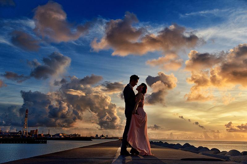 海外婚紗照 心幸福 婚禮小物