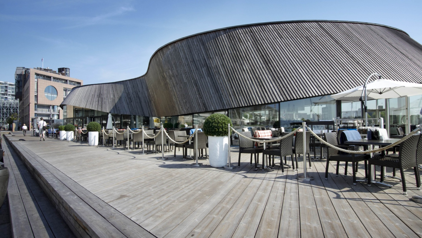 Uniquely Shaped Buildings Are Fascinating And Memorable. Modern Restaurant Exterior  Design