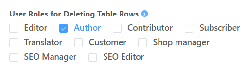fronted editing for editable data table
