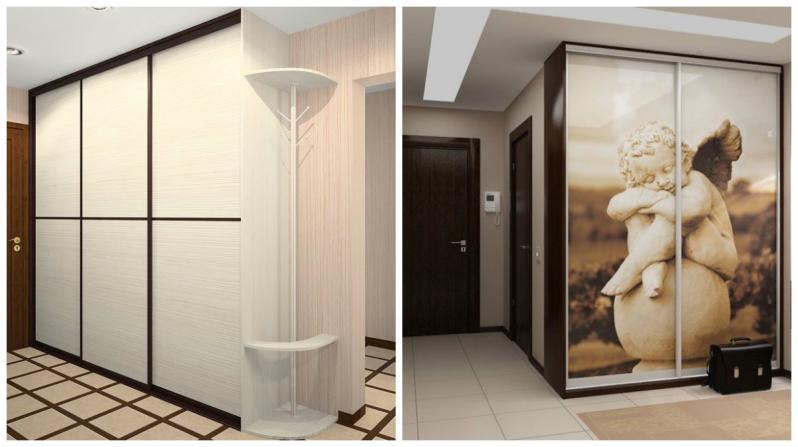 Целесообразный вариант – расположить шкаф-купе в месте примыкания двери между комнатами со стеной