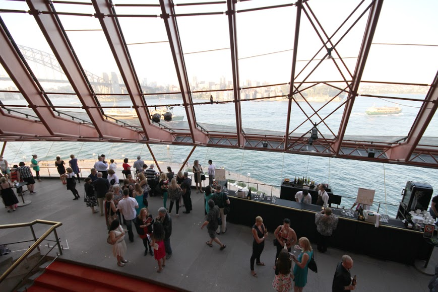 Visitors are served drinks right inside of Opera House