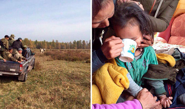 The boy was found in the Siberian wilderness after three days