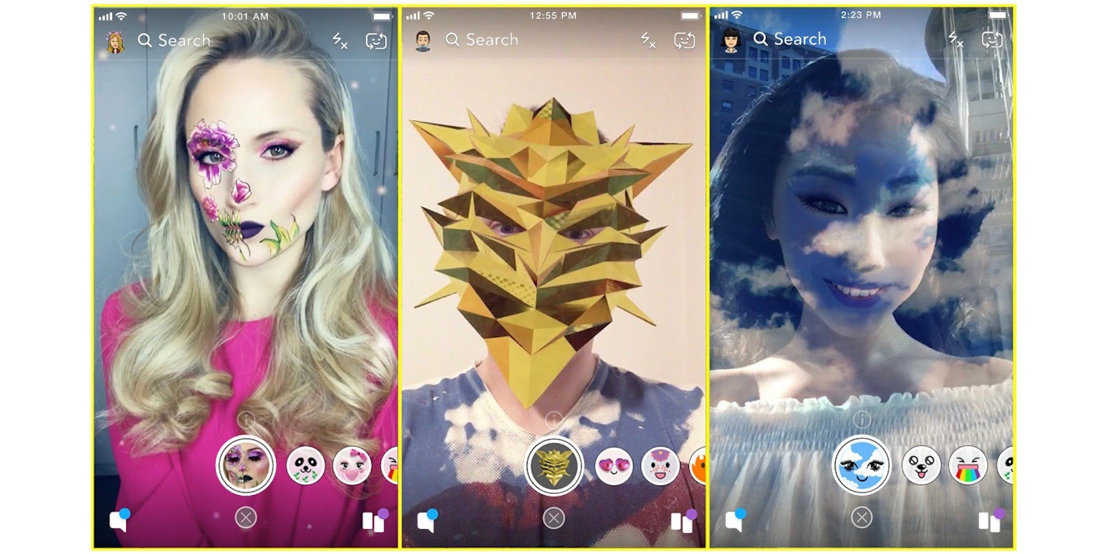 how to create an app like Snapchat with lenses