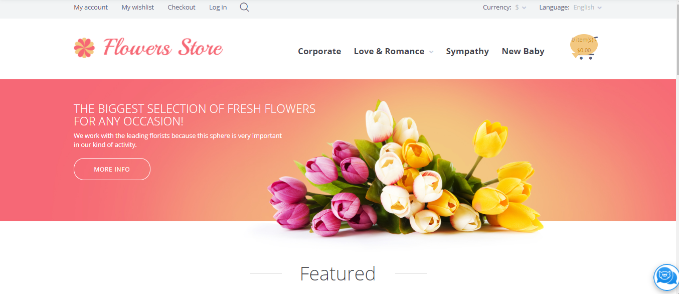 Flower Store - Opencart ecommerce themes