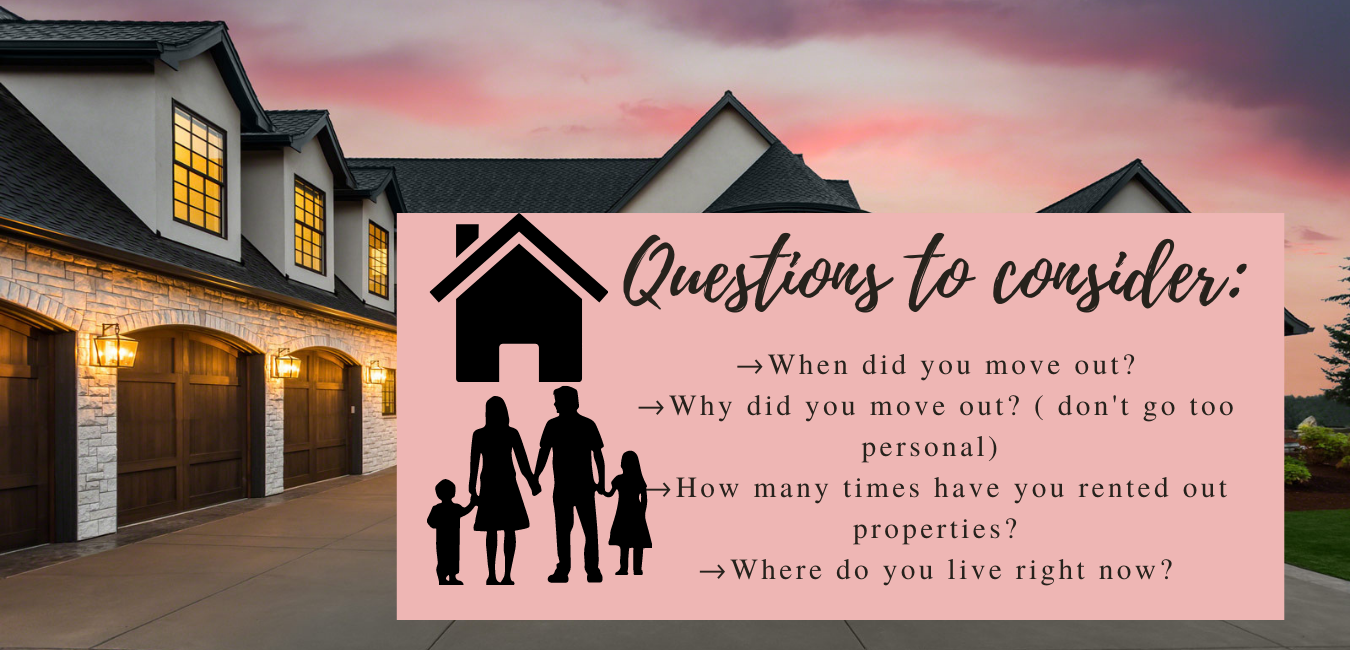 questions to consider during confirming rental period
