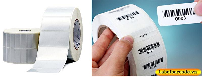 Chất liệu giấy decal pvc và giấy decal xi bạc được lựa chọn sử dụng mực in mã vạch resin