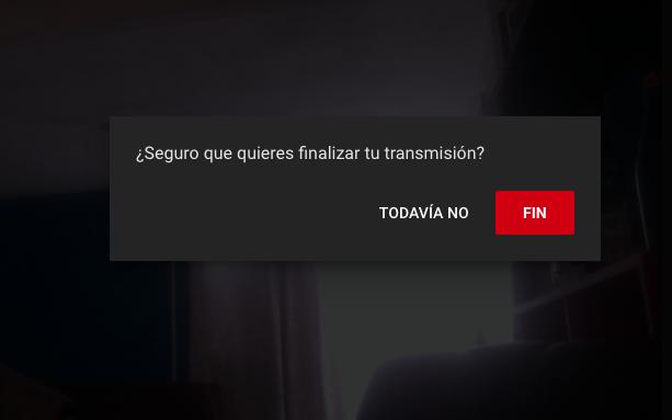 youtube live terminar transmisión