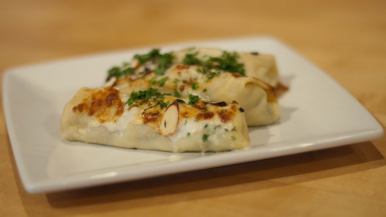 Chicken crepes lilly