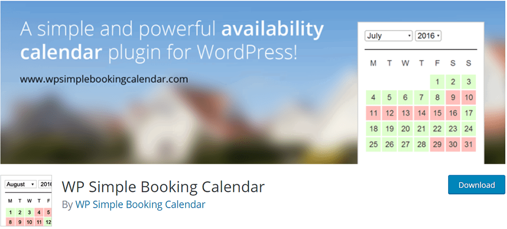 plugin wp simple booking calendar