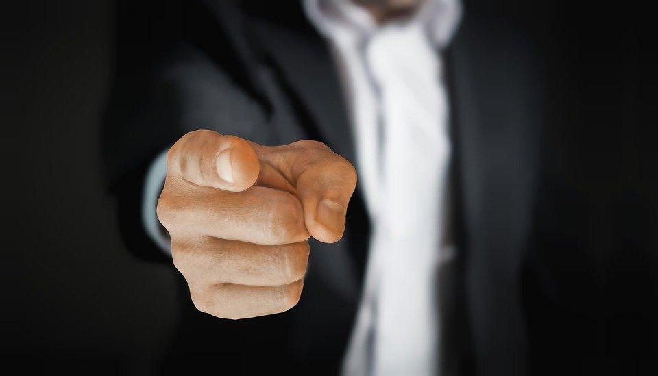 Man, Pointing, Business, Businessman, Suit, Hand