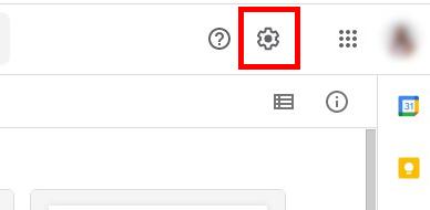 Icon Setting pada Google Drive