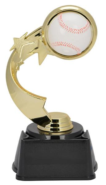 Baseball Ribbon Star Trophy
