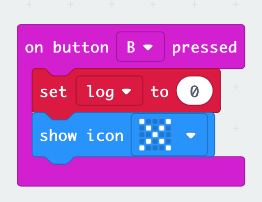 on button pressed in MakeCode