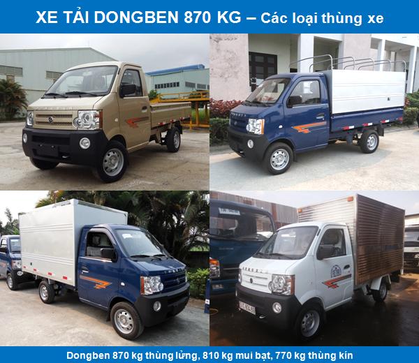 Xe tải Dongben 870 kg 2017 giá tốt chất lượng- Hổ trợ trả góp 80%.
