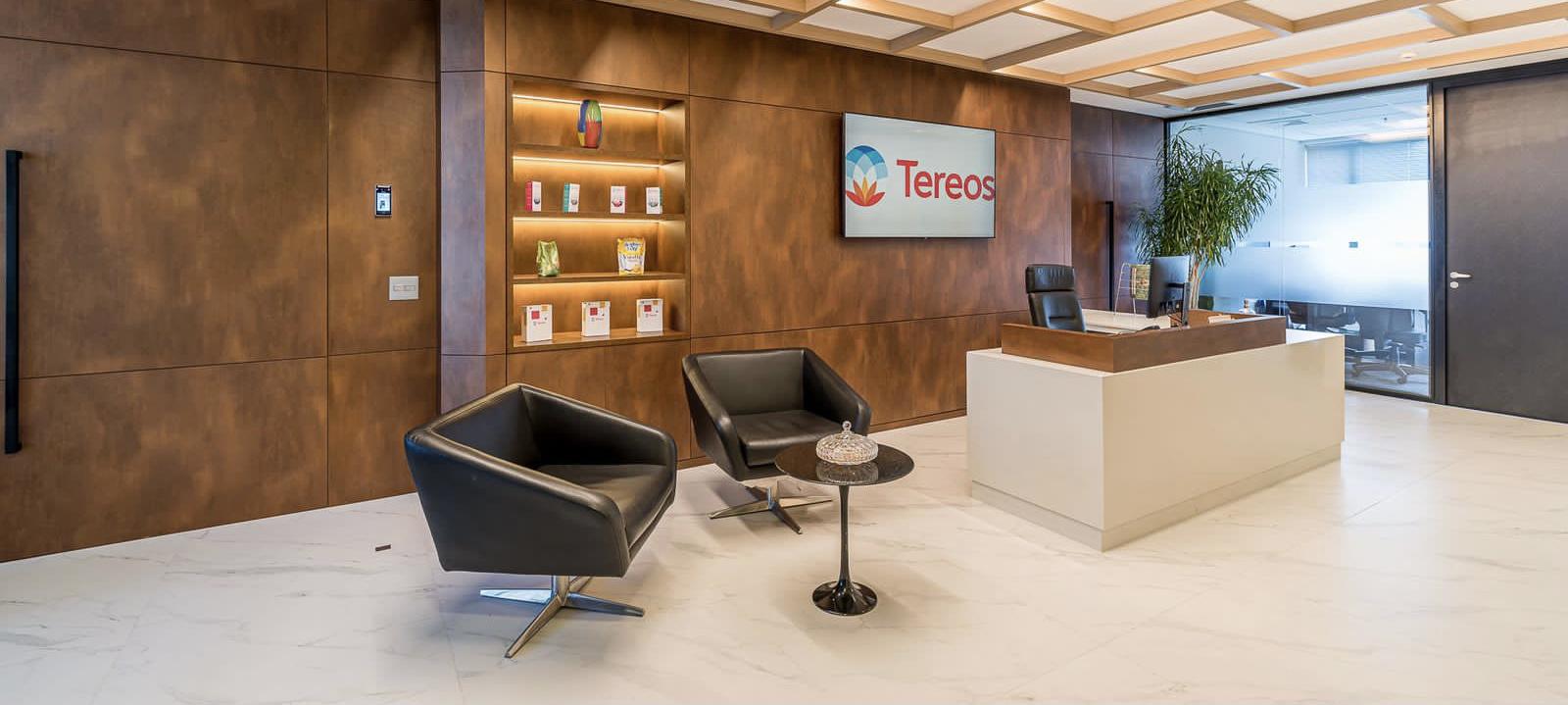 Projeto de escritório moderno e sofisticado para a Tereos