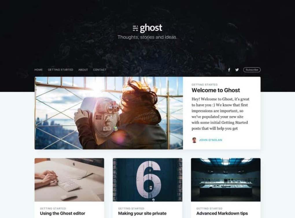 tema casper para o ghost