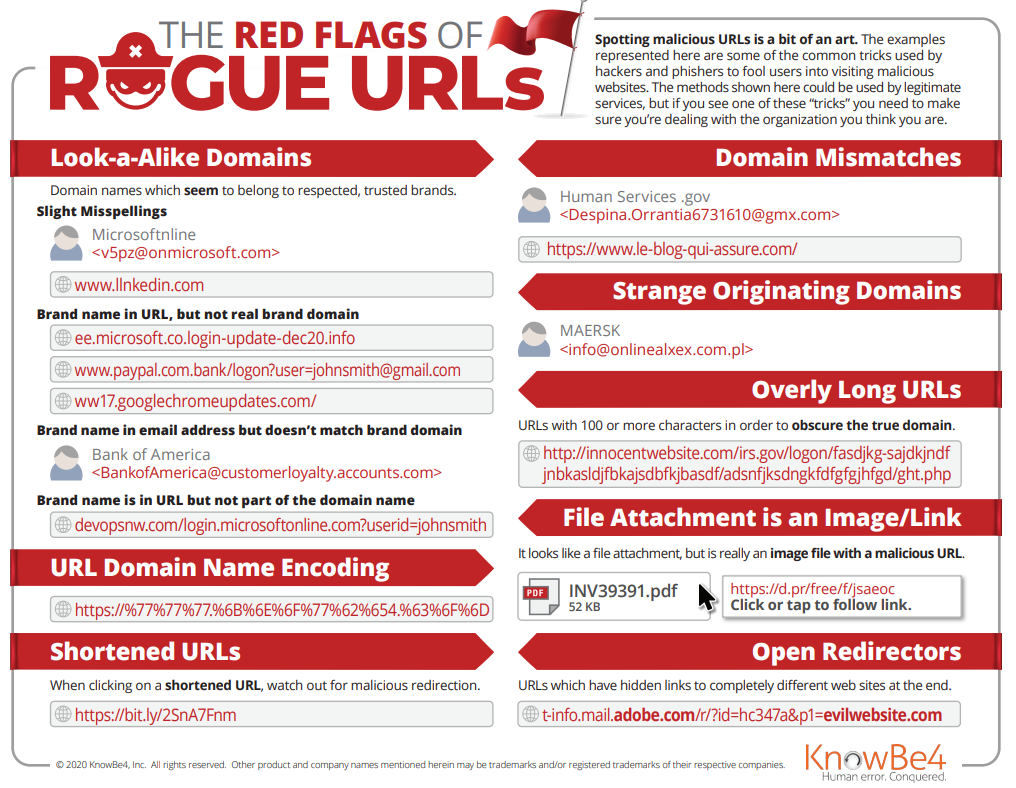 Red Flags of Rogue URL's