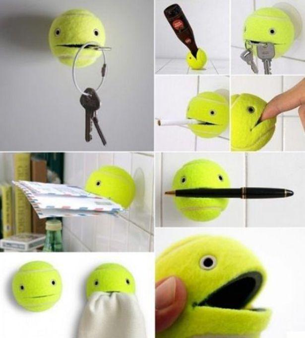 15. Креативная идея как использовать теннисный мячик совет, хитрость
