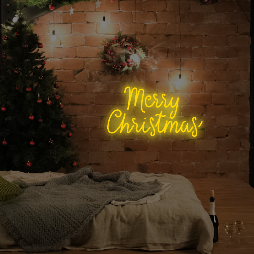 Merry Christmas Neon Light for Wall Decor