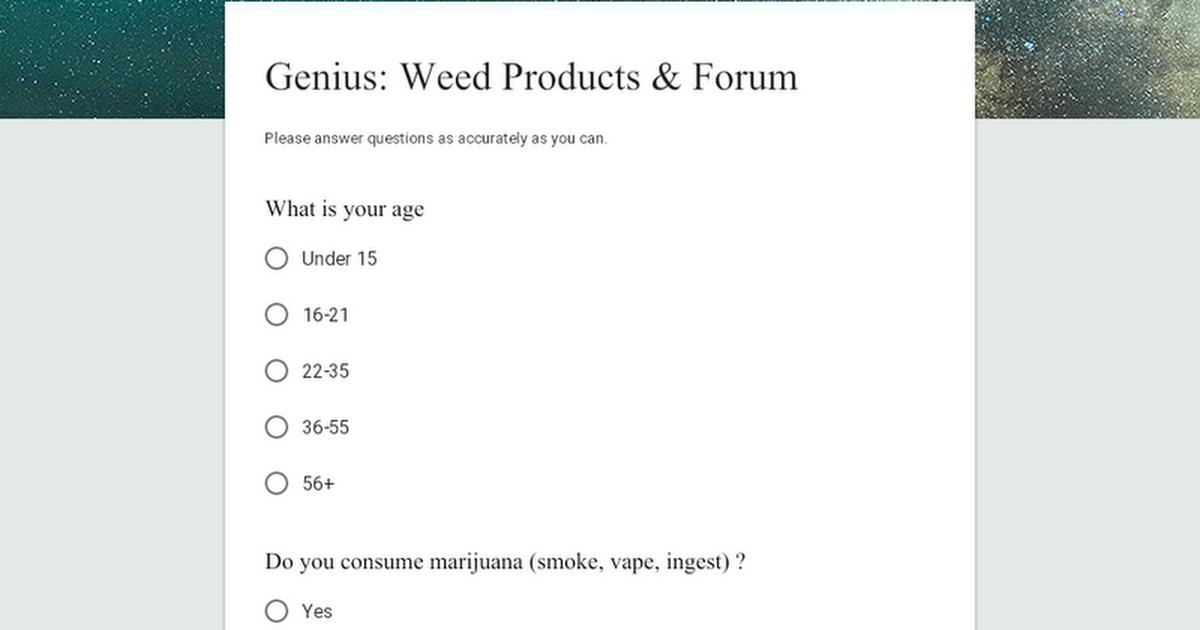 Marijuana gadget Poll!! Would be appreciated!! (takes under a minute)