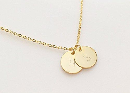 Image result for gold chain with initials