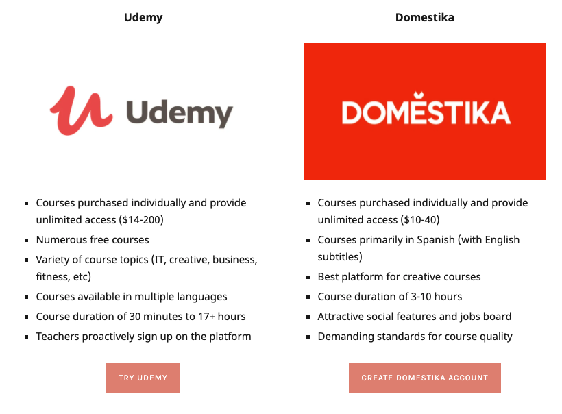 HOW TO WRITE A PRODUCT COMPARISON Udemy