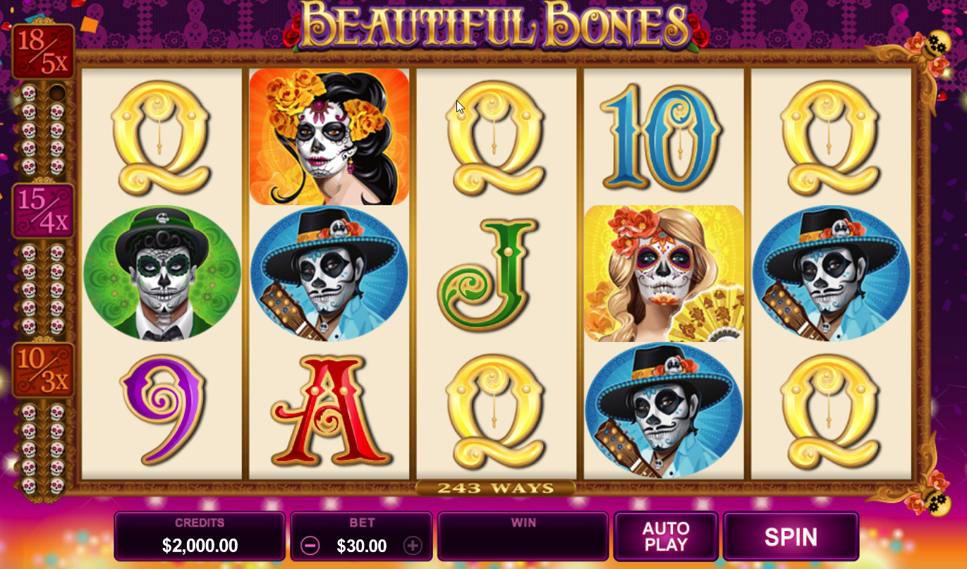 Beautiful Bones Slots Machine Review