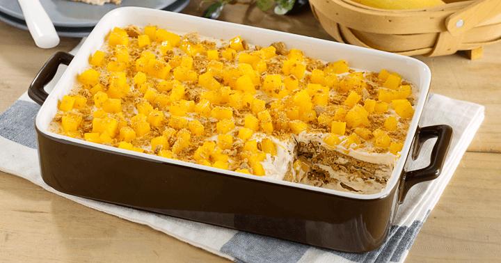 no-bake desserts mango graham cake