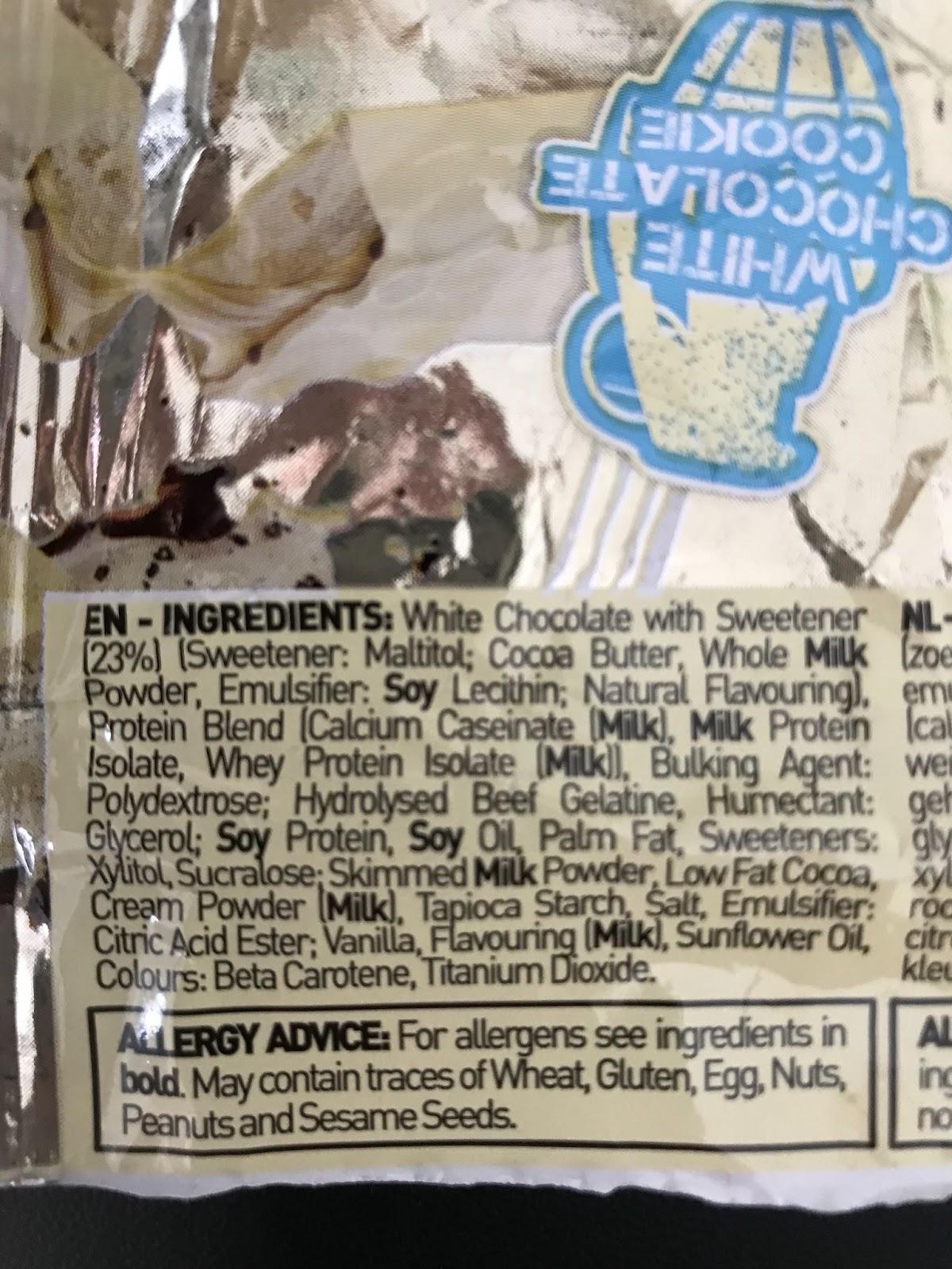 Carb Killa Protein Bar White Chocolate Cookie Ingredients