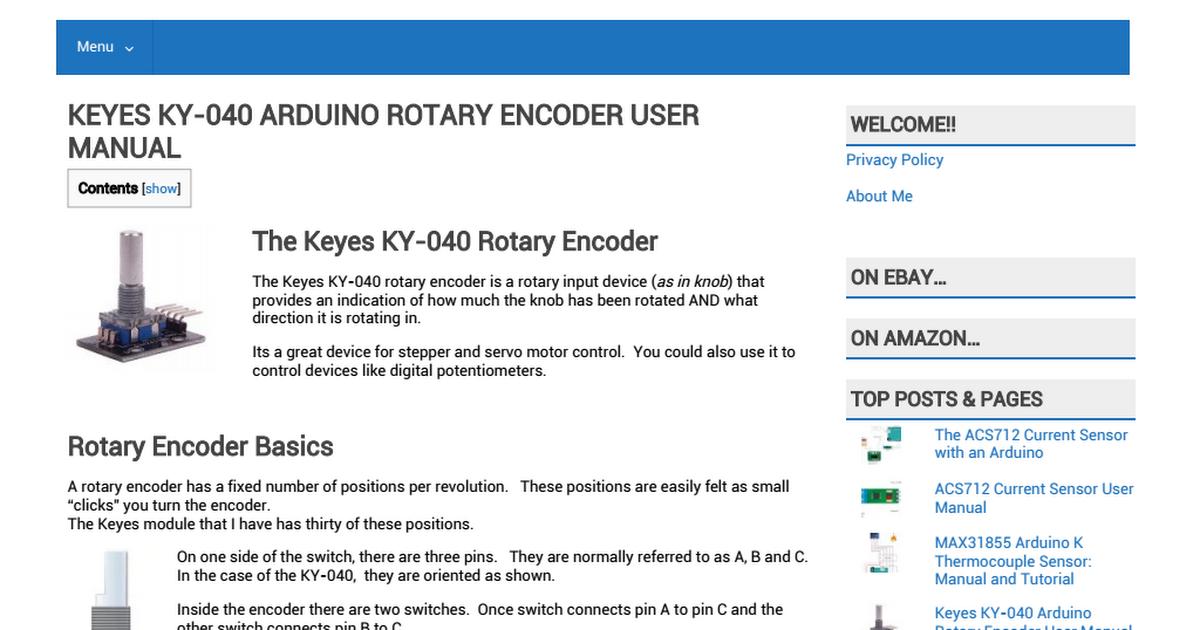 KEYES Rotary encoder module KY-040 pdf - Google Drive