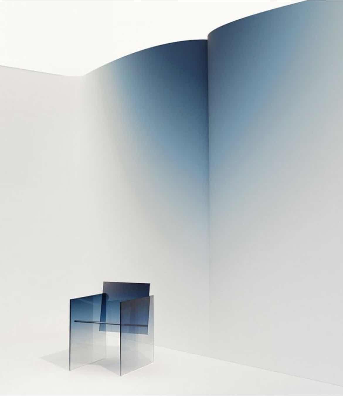 Color-Driven Glass Furniture