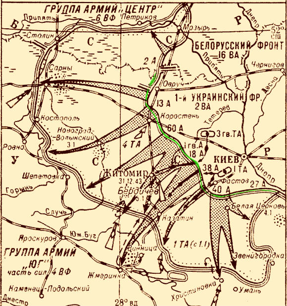 Карта Житомирско-Бердичевской