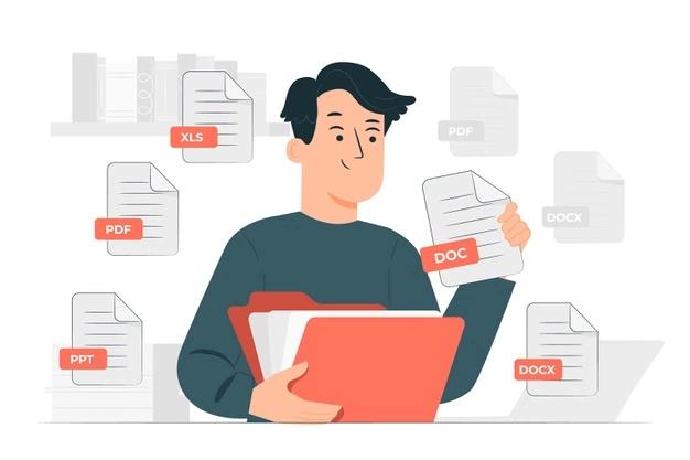 text files concept illustration